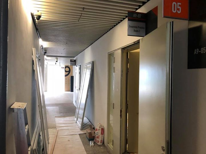 Soundproof door replacement & upgrade installation at SOTA School of The Arts Singapore