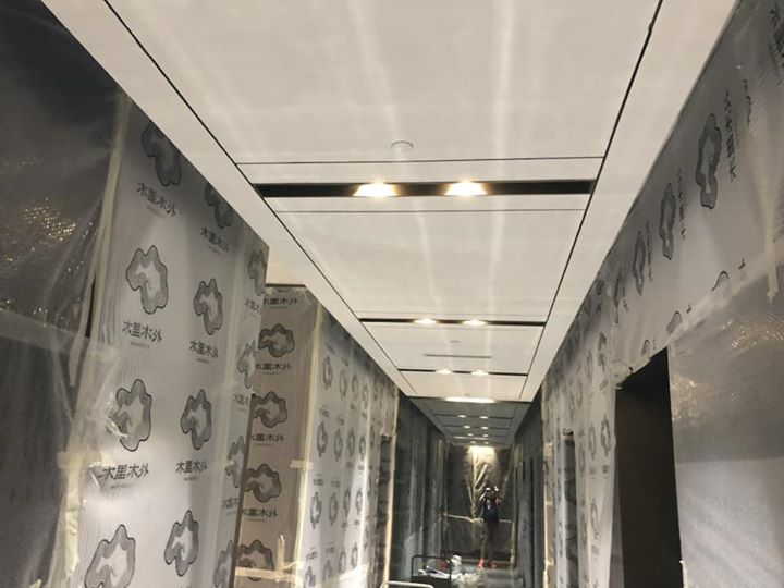 Hotel Renovation Project with 1 feet thick of Soundproof walls! This spectacular build is almost finished featuring marble decoration, rose gold, pine wood, oak wood and crystal finishes